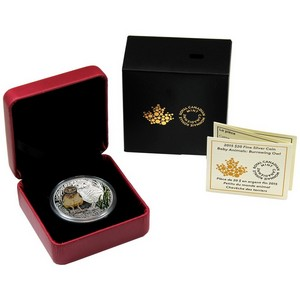 2015 Canada Silver Baby Animals Burrowing Owl 1oz Proof in OGP
