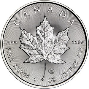 2015 Canada Silver Maple Leaf 1oz BU