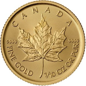2015 Canada Gold Maple Leaf Tenth Ounce BU