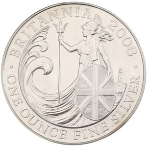 2008 Great Britain Silver Britannia 1oz BU