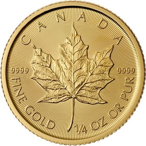 2015 Canada Gold Maple Leaf Quarter Ounce BU