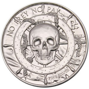 Privateer Silver 2oz Ultra High Relief Round