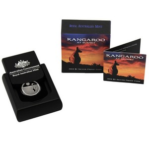 2014 Australia Silver Kangaroo at Sunset $1 Proof in OGP
