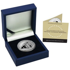 2015 Niue Silver Vietnam Veterans Memorial 1oz Proof in OGP