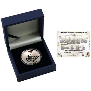 2015 Tokelau Silver Coffee 1oz Color Proof