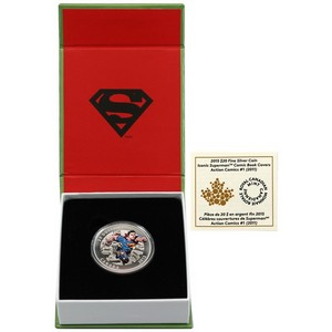 2015 Canada Silver $20 Iconic Superman Comic Book Covers: Action Comics #1 (2011) 1oz PF in OGP