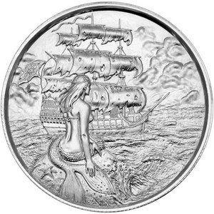 Privateer Siren Silver 2oz Ultra High Relief Round