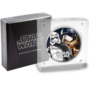 2016 Niue Silver Star Wars™ The Force Awakens: Captain Phasma 1oz Silver Colorized Proof in OGP