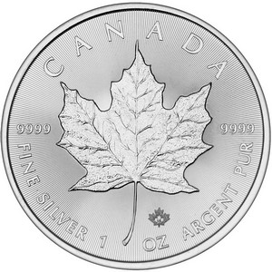2016 Canada Silver Maple Leaf 1oz BU
