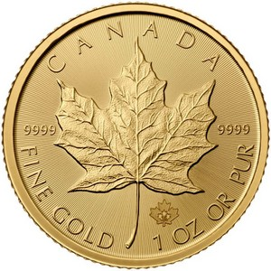 2016 Canada Gold Maple Leaf 1oz BU
