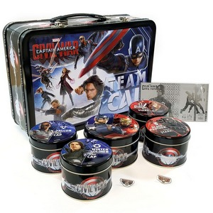 2016 Fiji Silver Marvel Captain America: Civil War 6pc 1oz Proof Set in Lunchbox