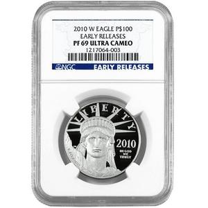 2010 W Platinum American Eagle 1oz PF69 UC ER NGC Blue Label