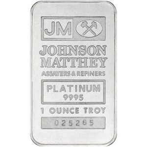 Johnson Matthey Platinum 1oz Bar