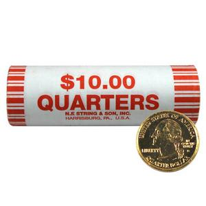 Gold Plated State Quarter Roll Mixed States Our Choice