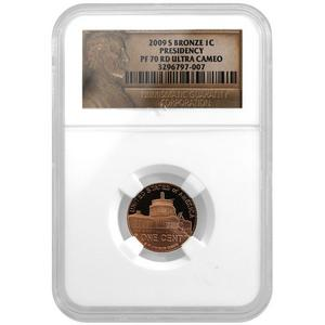 2009 S Lincoln Cent Presidency PF70 RD UC NGC