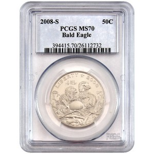 2008 S Bald Eagle Half Dollar MS70 PCGS
