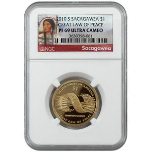 2010 S Sacagawea Dollar Great Law of Peace PF69 UC NGC