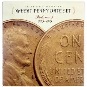 Wheat Penny Date Set Volume 1 1909-1939 and Volume 2 1940-1958