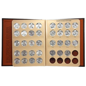 1948-1963 Franklin Silver Half Dollar BU Set in Dansco Album
