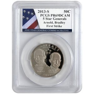 2013 S 5-Star Generals Arnold and Bradley Half Dollar PR69 DCAM FS PCGS 5-Star Label