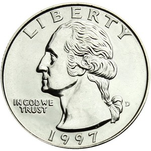 1997 D Washington Quarter BU