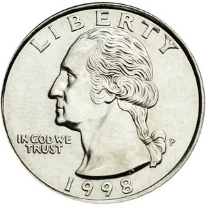 1998 P Washington Quarter BU