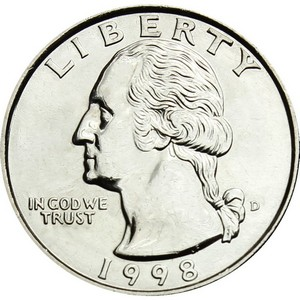 1998 D Washington Quarter BU