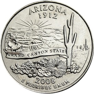 2008 D Arizona State Quarter BU