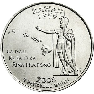 2008 D Hawaii State Quarter BU