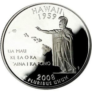 2008 S Hawaii State Quarter PF