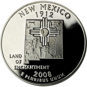 2008 S New Mexico State Quarter PF