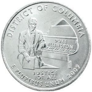 2009 P District of Columbia US Territories Quarter BU
