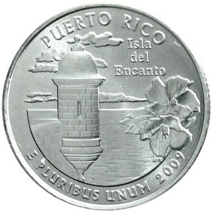 2009 P Puerto Rico US Territories Quarter BU