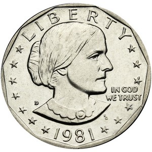 1981 D Susan B Anthony Dollar BU