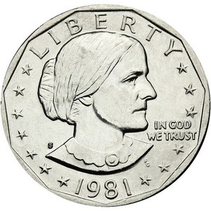 1981 S Susan B Anthony Dollar BU