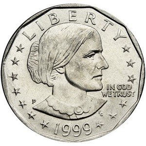 1999 P Susan B Anthony Dollar BU
