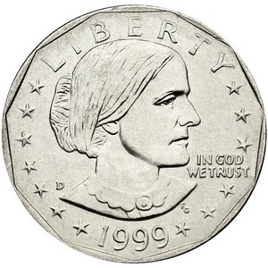 1999 D Susan B Anthony Dollar BU