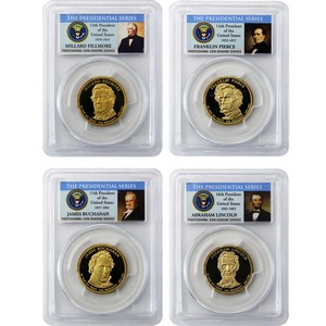 2010 S Presidential Dollars 4pc Set PR69 DCAM PCGS