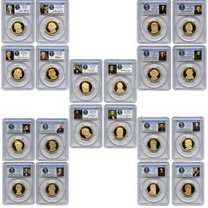 Presidential Dollars 5 Year 20 PC Set PR69 DCAM PCGS Presidential Series Label
