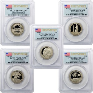 2013 S America the Beautiful Clad Quarters PR69 DCAM FS PCGS 5 Coin Set