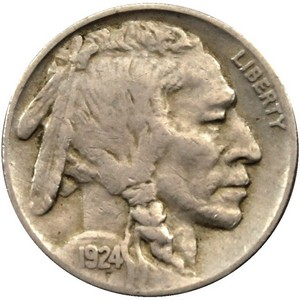 1924 Buffalo Nickel AG/G