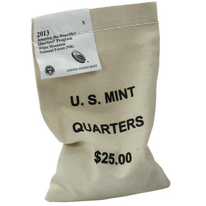 2013 S American the Beautiful White Mountain National Forest Quarter BU 100 Sealed Bag