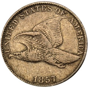 1857 Flying Eagle Cent AG/G