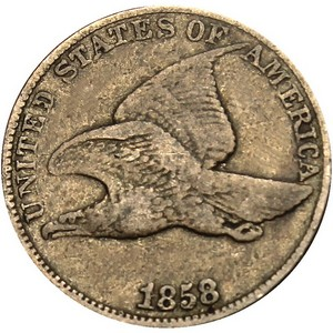 1858 Flying Eagle Cent G/VG