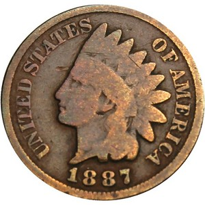 1887 Indian Head Cent G/VG