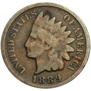 1889 Indian Head Cent G/VG