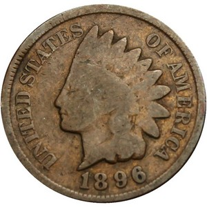 1896 Indian Head Cent G/VG