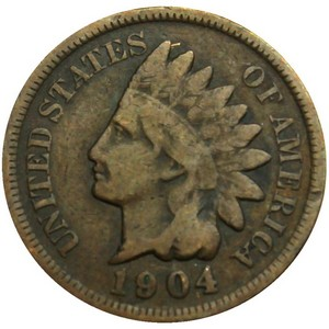 1904 Indian Head Cent G/VG