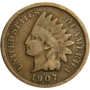 1907 Indian Head Cent G/VG