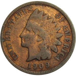 1909 Indian Head Cent G/VG